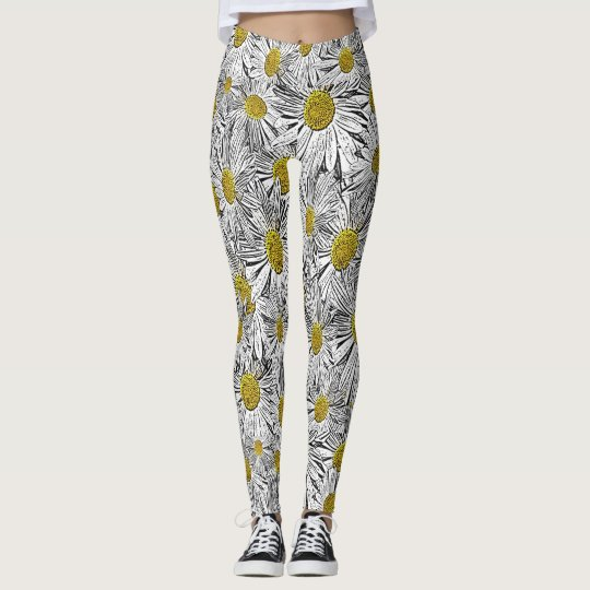 Yellow Centred Daisies Leggings