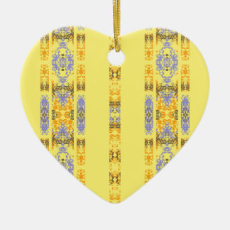 yellow ceramic ornament