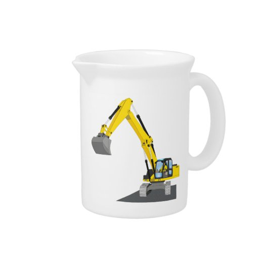 yellow chain excavator drink pitchers