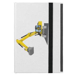 yellow chain excavator iPad mini case