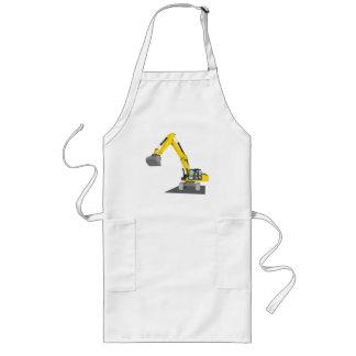 yellow chain excavator long apron