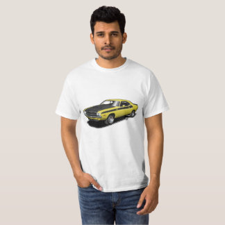 Yellow Challenger classic car t-shirt