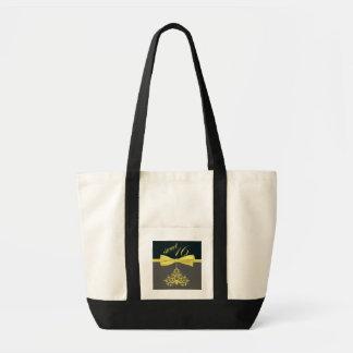 Yellow Chandelier & Ribbon Print Sweet Sixteen Impulse Tote Bag