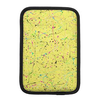 Yellow chaos iPad mini sleeve