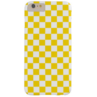 Yellow Checkerboard Barely There iPhone 6 Plus Case