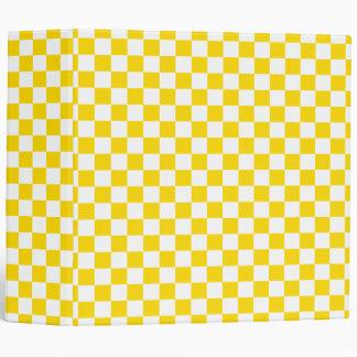 Yellow Checkerboard Binder