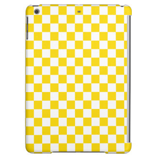 Yellow Checkerboard Case For iPad Air