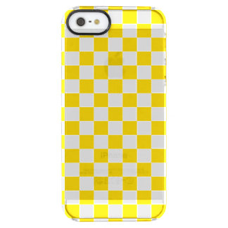 Yellow Checkerboard Clear iPhone SE/5/5s Case