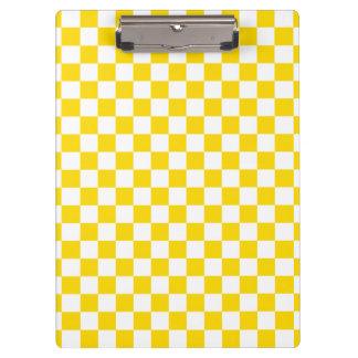 Yellow Checkerboard Clipboard