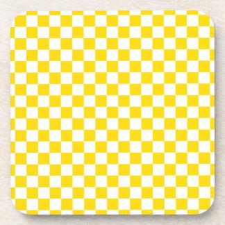 Yellow Checkerboard Coaster