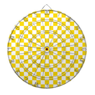 Yellow Checkerboard Dartboard