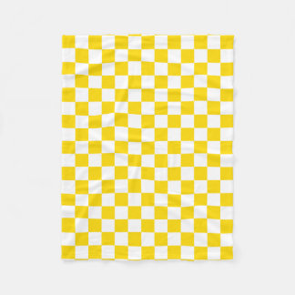 Yellow Checkerboard Fleece Blanket