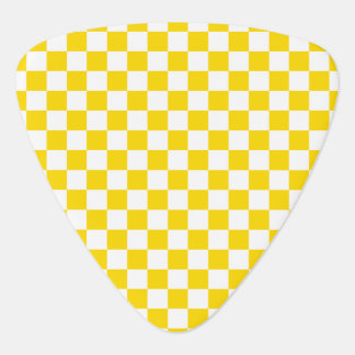 Yellow Checkerboard Guitar Pick