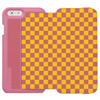 Yellow Checkerboard Incipio Watson™ iPhone 6 Wallet Case