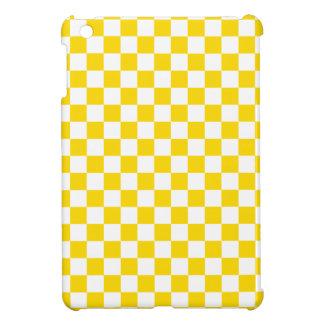 Yellow Checkerboard iPad Mini Cases