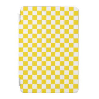 Yellow Checkerboard iPad Mini Cover
