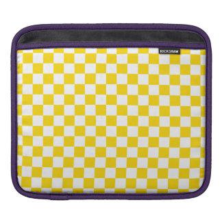 Yellow Checkerboard iPad Sleeve