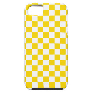 Yellow Checkerboard iPhone 5 Covers