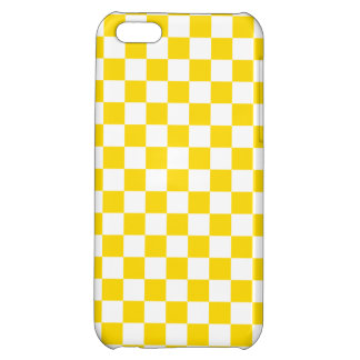Yellow Checkerboard iPhone 5C Case