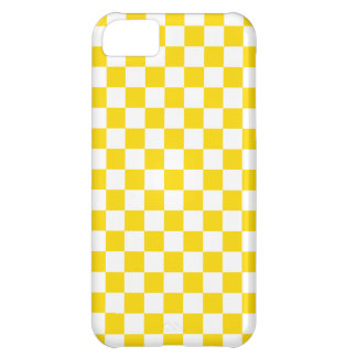 Yellow Checkerboard iPhone 5C Cover