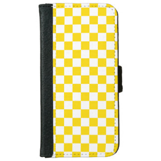 Yellow Checkerboard iPhone 6 Wallet Case
