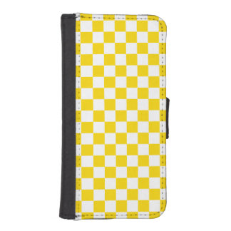 Yellow Checkerboard iPhone SE/5/5s Wallet Case