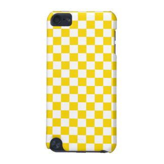 Yellow Checkerboard iPod Touch (5th Generation) Case