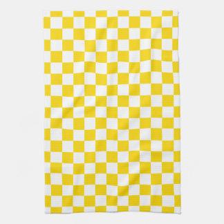 Yellow Checkerboard Kitchen Towel