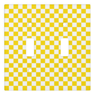 Yellow Checkerboard Light Switch Cover