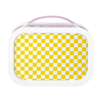 Yellow Checkerboard Lunch Box