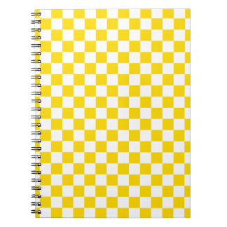 Yellow Checkerboard Notebook