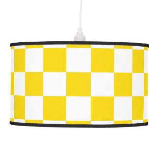 Yellow Checkerboard Pendant Lamp