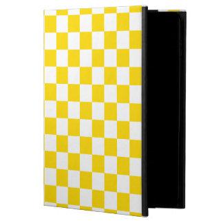 Yellow Checkerboard Powis iPad Air 2 Case