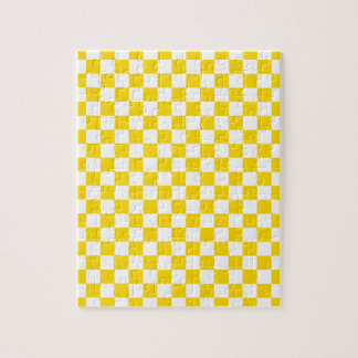 Yellow Checkerboard Puzzle
