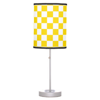 Yellow Checkerboard Table Lamp