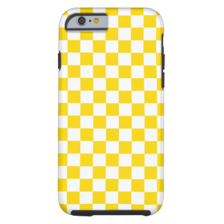 Yellow Checkerboard Tough iPhone 6 Case