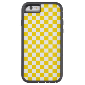 Yellow Checkerboard Tough Xtreme iPhone 6 Case