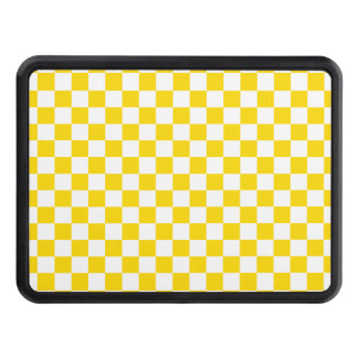 Yellow Checkerboard Trailer Hitch Cover