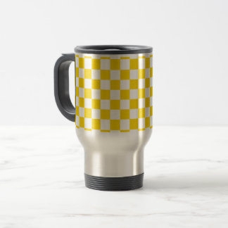 Yellow Checkerboard Travel Mug
