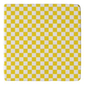 Yellow Checkerboard Trivet