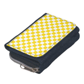 Yellow Checkerboard Wallets