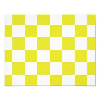 yellow checkered photo art