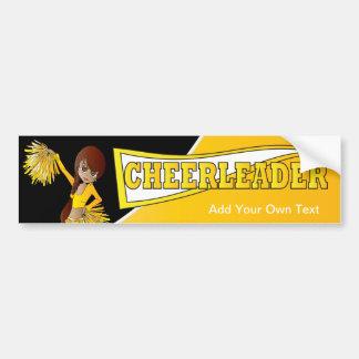 Yellow Cheerleader Bumper Sticker