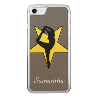 Yellow Cheerleader Carved iPhone 7 Case