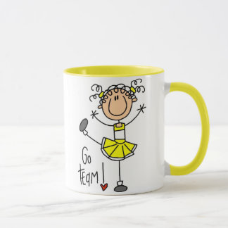 Yellow Cheerleader Mug