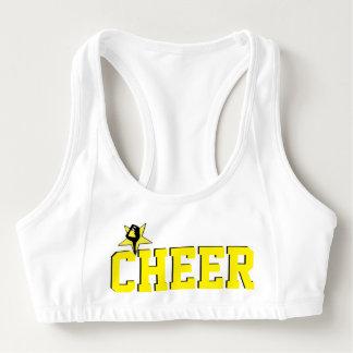 Yellow Cheerleader sports bra