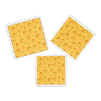 Yellow Cheese Pattern Acrylic Tray