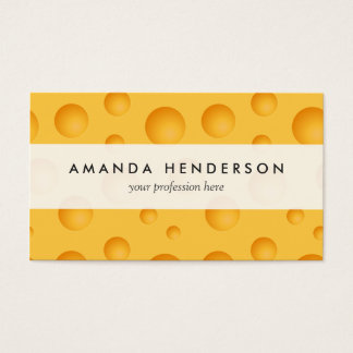 Yellow Cheese Pattern Business Card