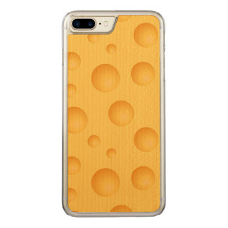 Yellow Cheese Pattern Carved iPhone 8 Plus/7 Plus Case