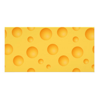 Yellow Cheese Pattern Customized Photo Card